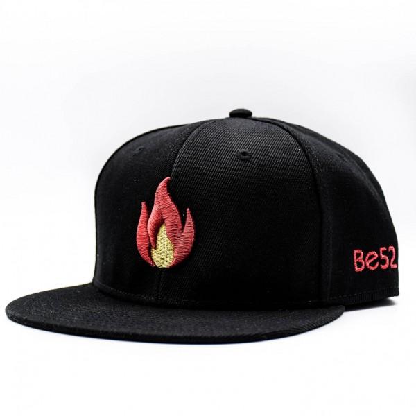 Šiltovka BE52 Snapback Flame black