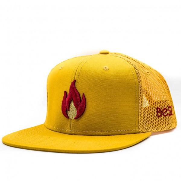 Šiltovka BE52 Snapback Flame yellow