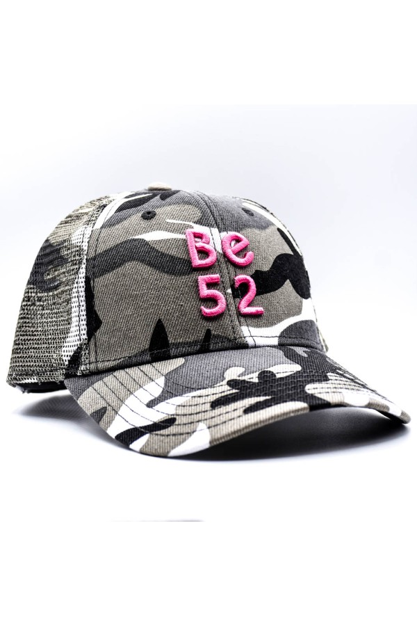 Šiltovka BE52 Camo black/pink