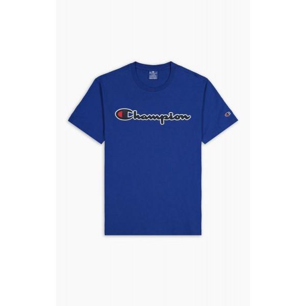 Tričko CHAMPION Rochester Satin Script blue