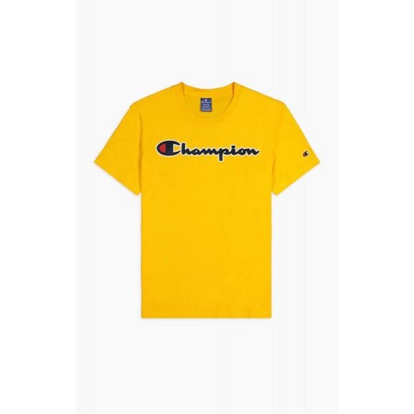 Tričko CHAMPION Rochester Satin Script yellow