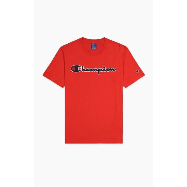 Tričko CHAMPION Rochester Satin Script red