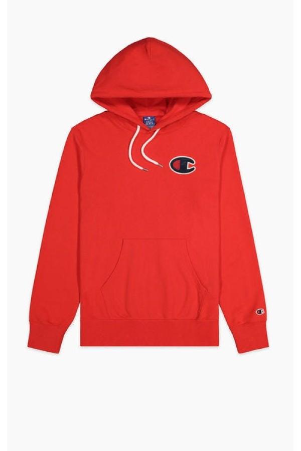 Mikina CHAMPION Rochester C-Logo Hoodie red