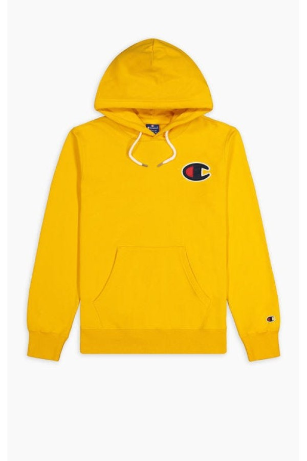 Mikina CHAMPION Rochester C-Logo Hoodie yellow