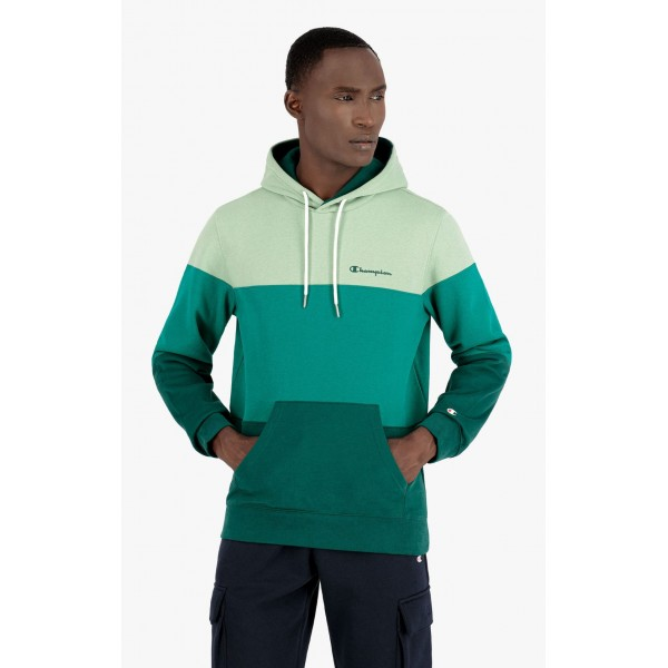 Mikina CHAMPION Stripe Hoodie green