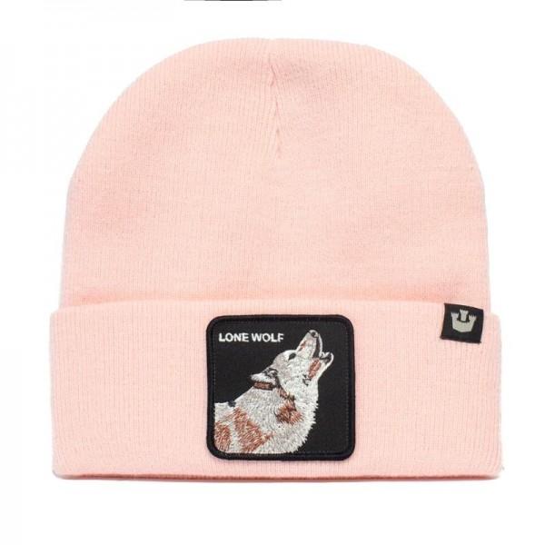 Zimná čiapka GOORIN BROS. Wolf man pink