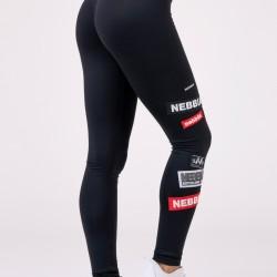 Legíny NEBBIA High Weist Labels black