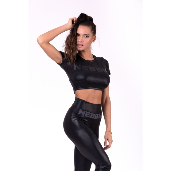 Top NEBBIA Sandra D crop top black