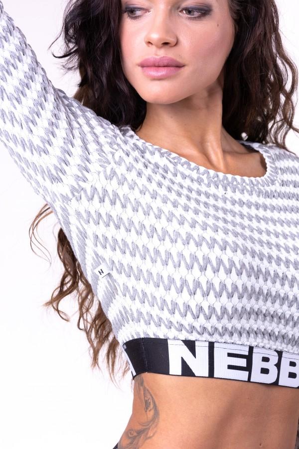 Top NEBBIA Boho Style light grey