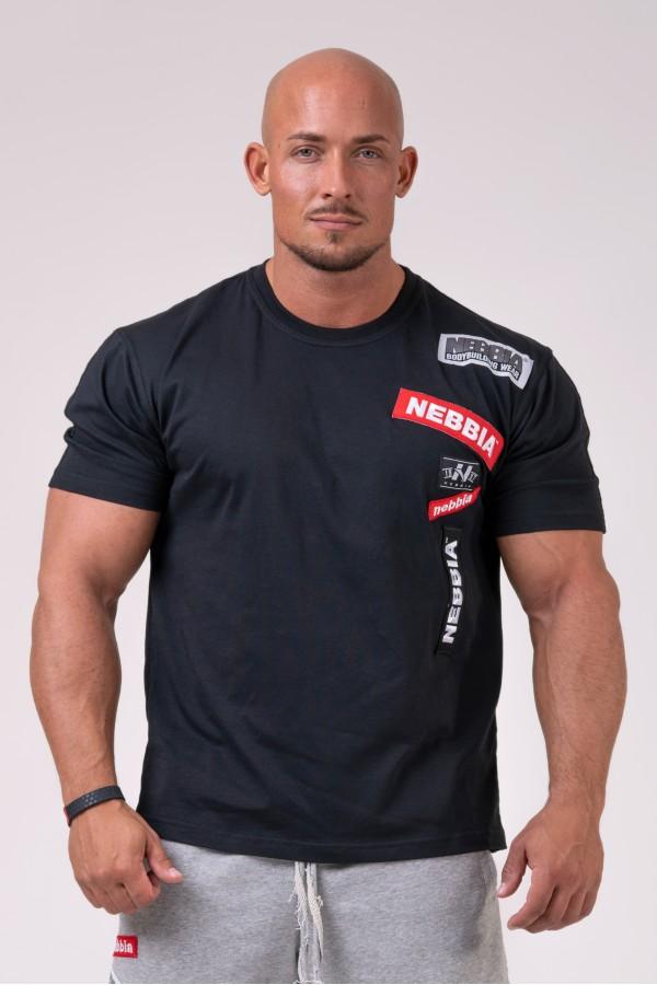 Tričko NEBBIA Labels black
