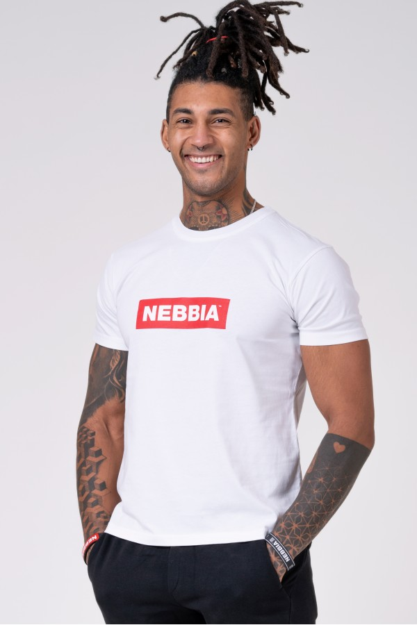Tričko NEBBIA Men white