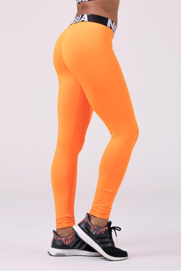 Legíny NEBBIA Squad Hero Scrunch Butt orange