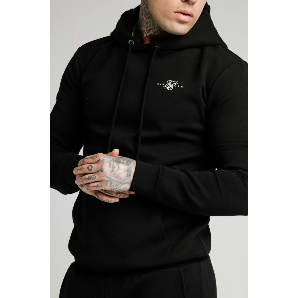Mikina SIK SILK Muscle Fit Hoodie black