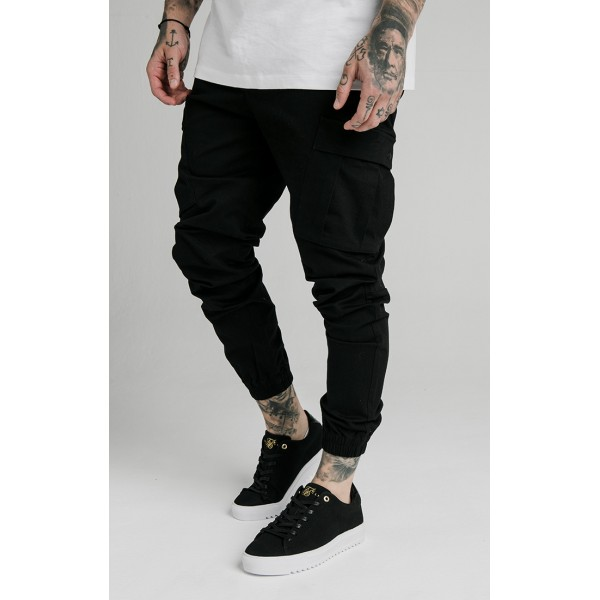 Nohavice SIK SILK Cargo Pants black