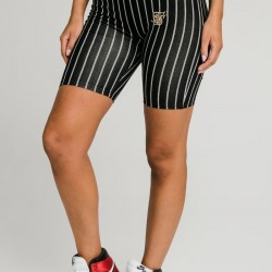Kraťasy SIK SILK Baseball Stripe Shorts black