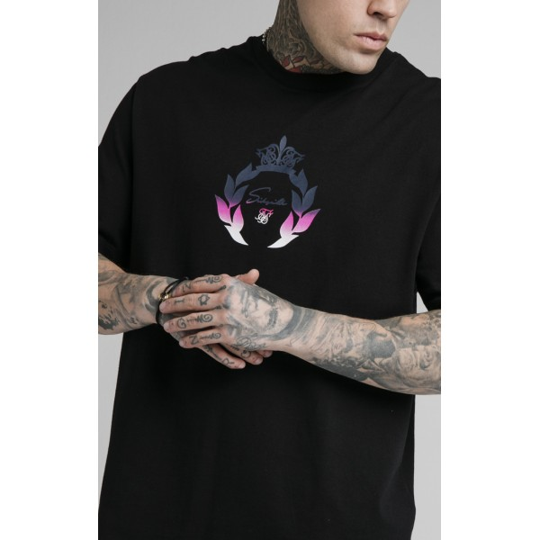 Tričko SIK SILK Essential Tee black