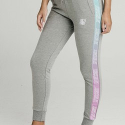 Tepláky SIK SILK Fade Runner Track pants grey