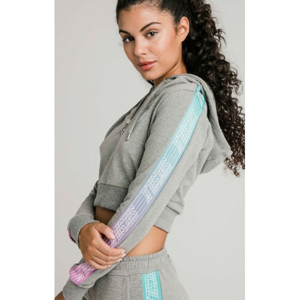 Mikina SIK SILK Fade Runner Track Top grey