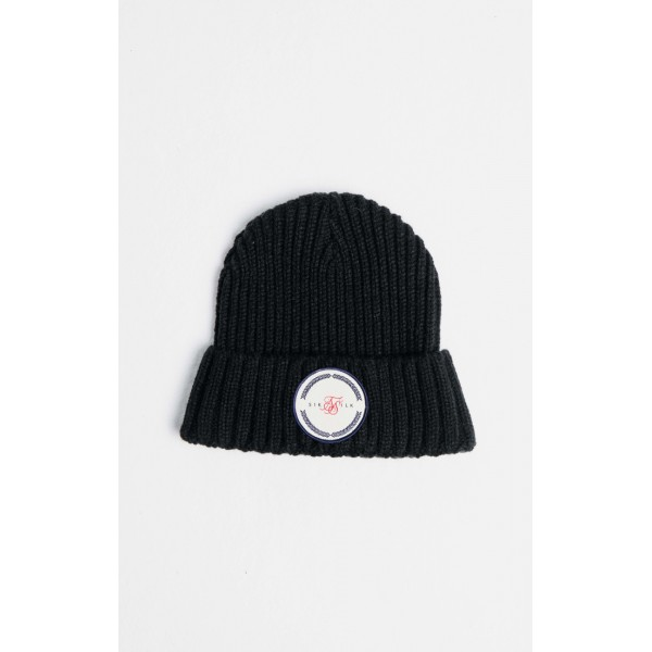 Zimná čiapka SIKSILK Rib Cuff Beanie black