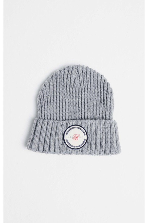 Zimná čiapka SIKSILK Rib Cuff Beanie grey