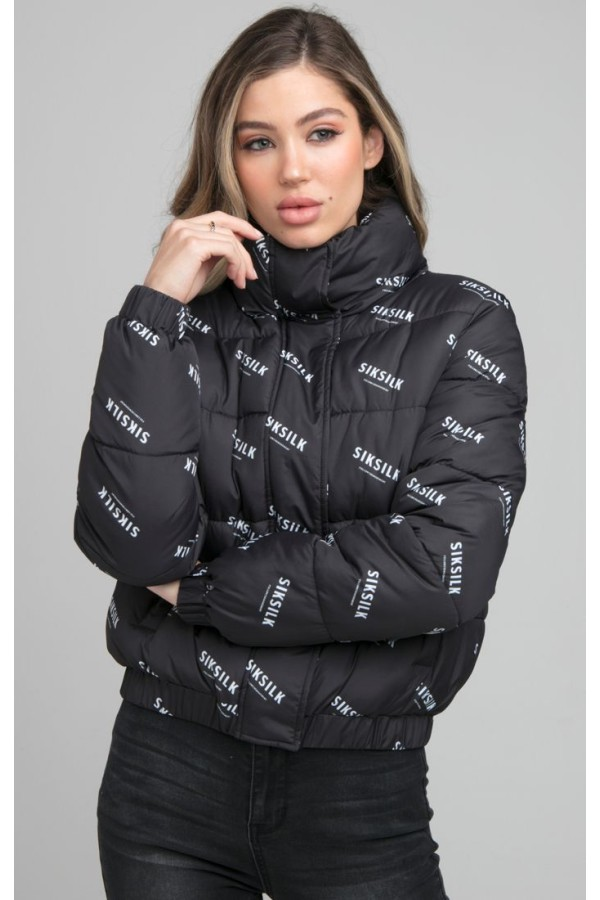 Bunda SIK SILK AllOver Print Jacket black