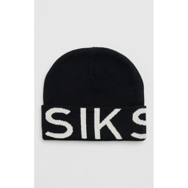 Zimná čiapka SIKSILK Jacquard black