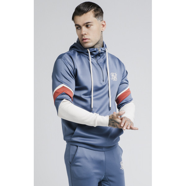 Mikina Sik Silk Sprint Quarter Zip blue