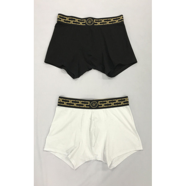 Boxerky SIK SILK Cartel Tape Boxer 2-pack black/white