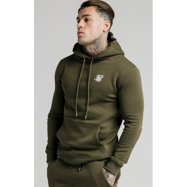 Mikina SIK SILK Muscle Fit Hoodie Khaki