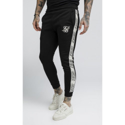 Tepláky SIK SILK Cuffed Runner Pants black