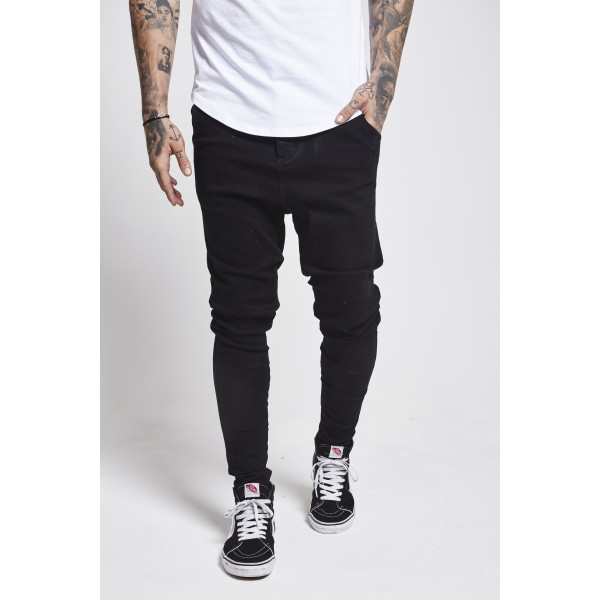 Rifle SIK SILK Drop Crotch Denims black