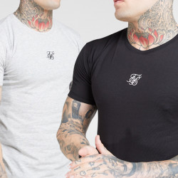 Tričko SIK SILK Lounge Tee 2-pack black/white