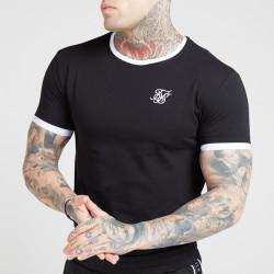 Tričko SIK SILK Ringer Gym Tee black