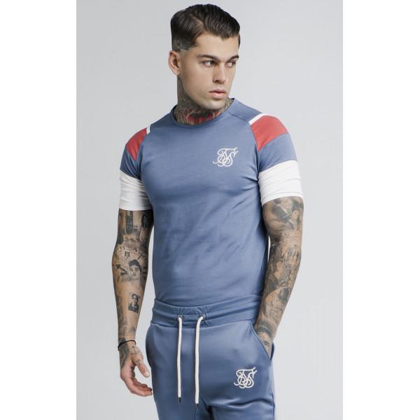 Tričko SIK SILK Raglan Sprint Tee blue