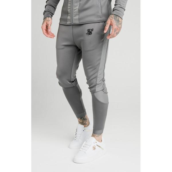 Tepláky SIK SILK Creased Nylon Pants grey