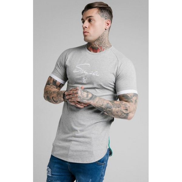 Tričko SIK SILK Fade Piping grey