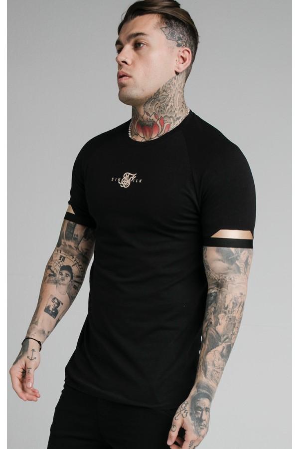 Tričko SIK SILK Dual Cuff Tee black
