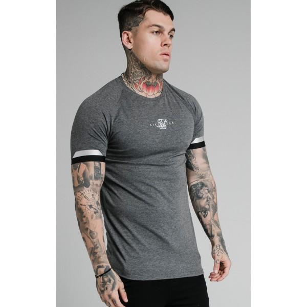 Tričko SIK SILK Dual Cuff Tee grey