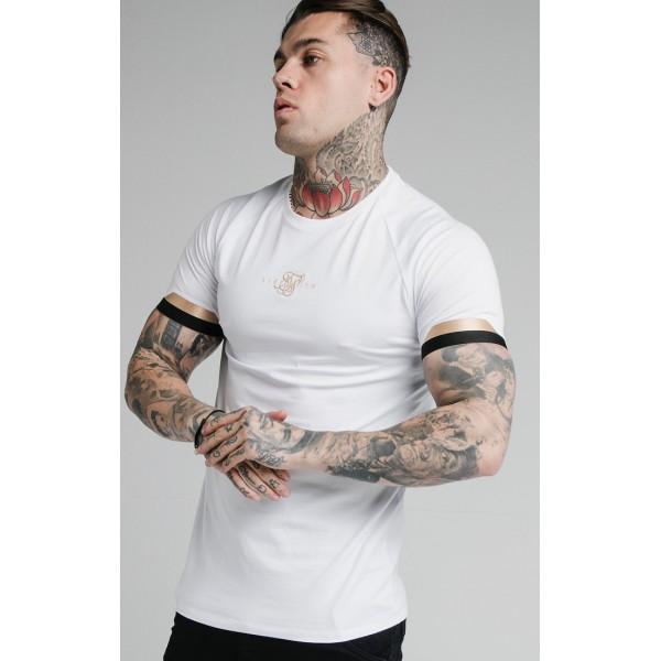 Tričko SIK SILK Dual Cuff Tee white