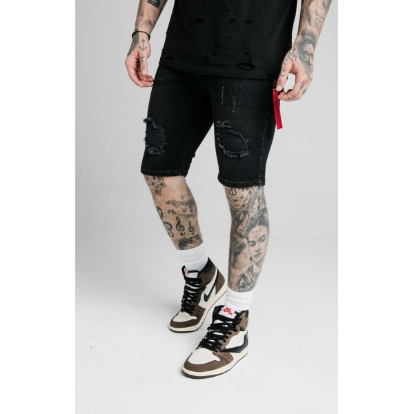 Kraťasy SIKSILK Distressed Flight Shorts