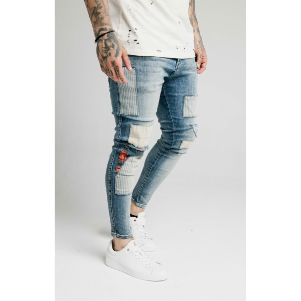 Rifle SIKSILK Distressed Fusion Patch denims blue