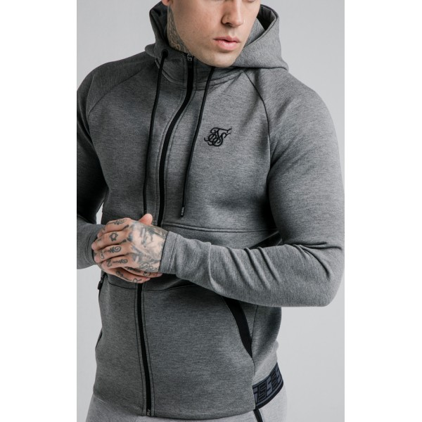 Mikina SIKSILK Exhibit grey