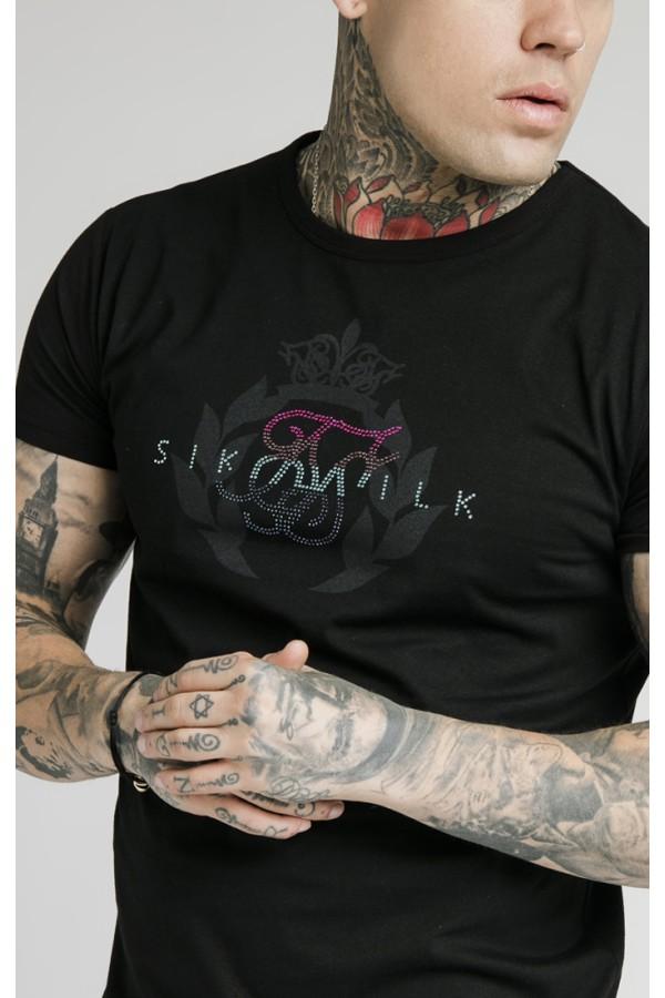 Tričko SIKSILK Rhinestone black