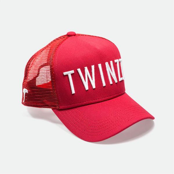 Šiltovka TWINZZ 3D Mesh Trucker red/white