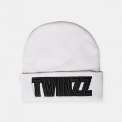 Čiapka TWINZZ Uber Embro Knitted white/black