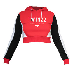 Mikina TWINZZ Lounge Active Hood Red