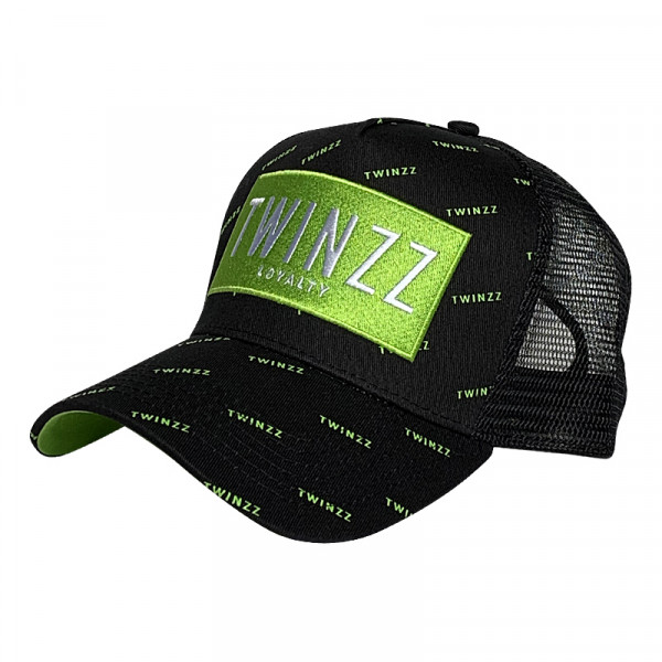 Šiltovka TWINZZ Pinelli Ss Trucker black/lime