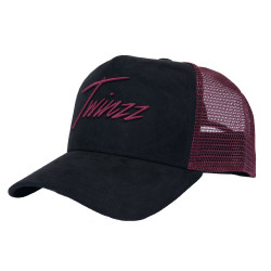 Šiltovka TWINZZ Lightening Suede Trucker black/burgundy