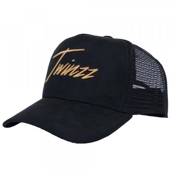 Šiltovka TWINZZ Lightening Suede Trucker black/gold