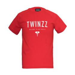 Tričko TWINZZ Active Our World Graphic Tee Red